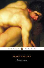 Book cover of Frankenstein by Mary Shelley