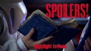 River Song Spoilers banner by Bunbury in the Stacks
