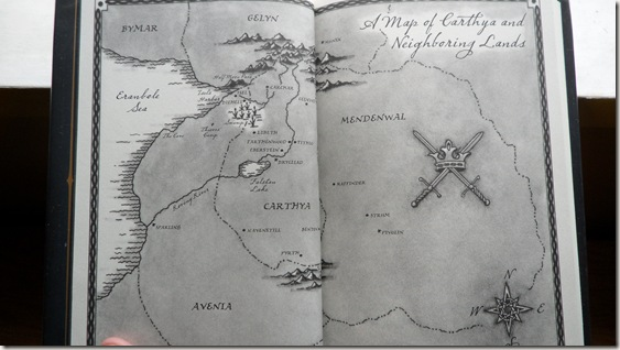 Map of Carthya and Neighboring Lands from The False Prince by Jennifer A. Nielsen