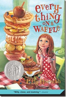 book cover of Everything on a Waffle by Polly Horvath