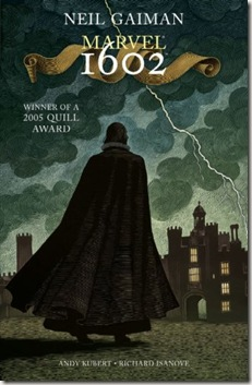 book cover of Marvel 1602 by Neil Gaiman