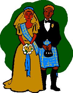 Scottish Wedding clip art
