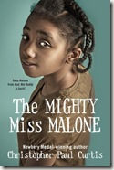 book cover of The Mighty Miss Malone by Christopher Paul Curtis