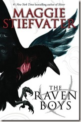 book cover of The Raven Boys and Maggie Stiefvater
