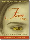 Fever 1793 by Laurie Halse Anderson audio book cover