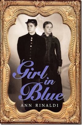 Girl in Blue by Ann Rinaldi book cover