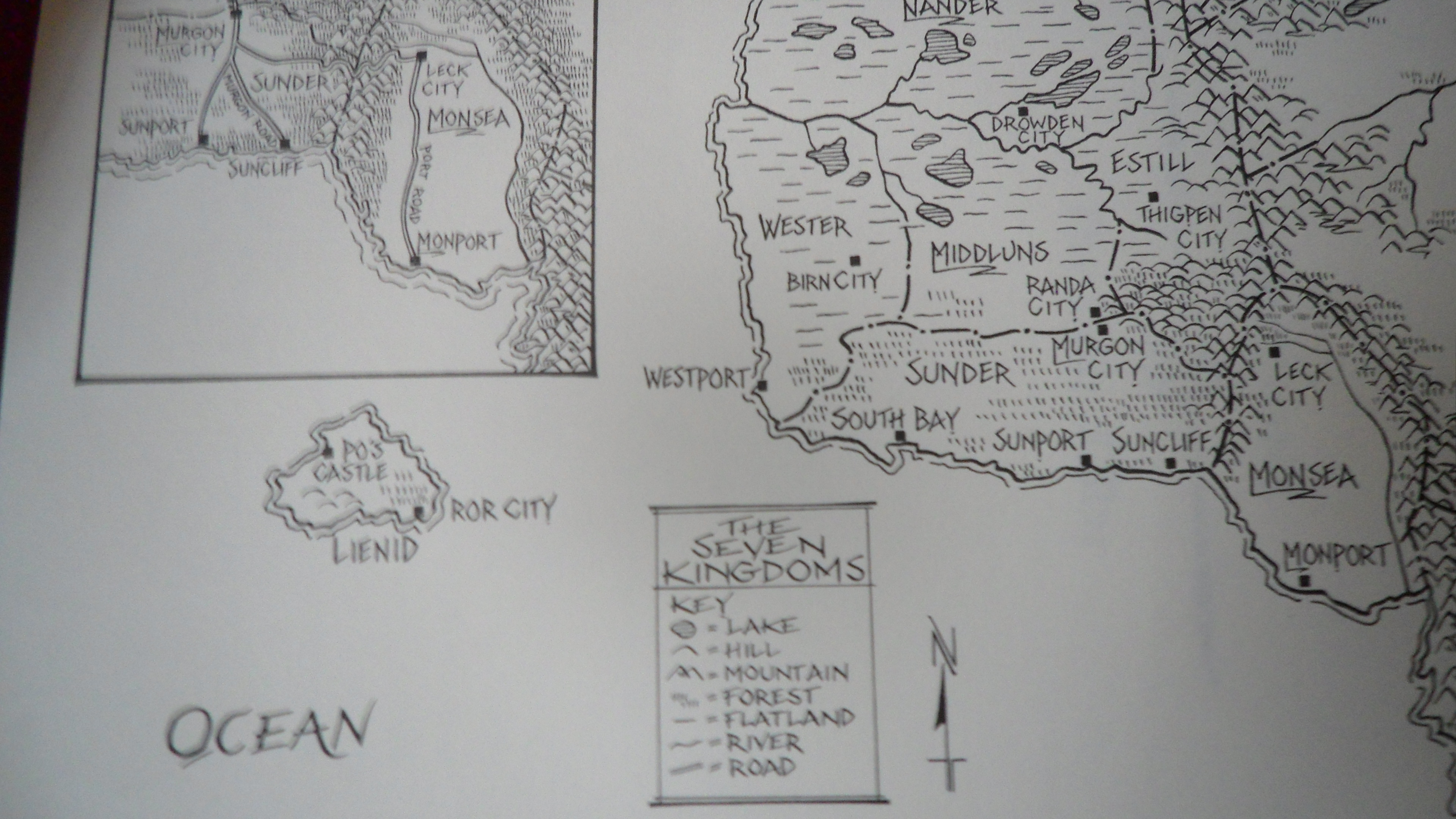 Map of the Seven Kingdoms from Graceling