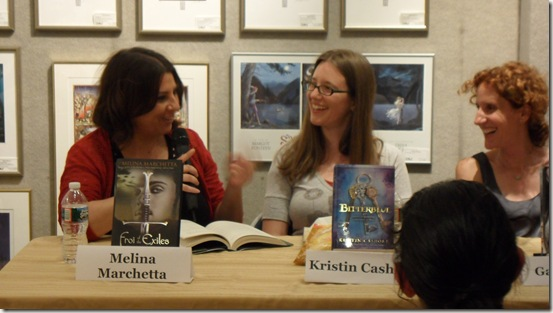 Melina Marchetta, Kristin Cashore, and Gayle Forman at Books of Wonder in NYC