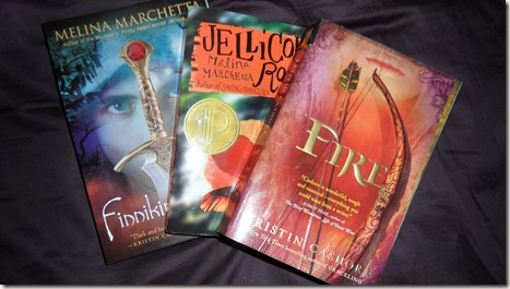 Finniken of the Rock, Jellicoe Road, and Fire