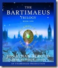 The Amulet of Samarkand by Jonathan Stroud audio book cover