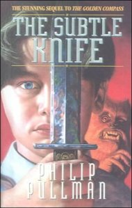 The Subtle Knife by Philip Pullman book cover