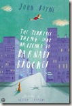 The Terrible Thing That Happened to Barnaby Brocket by John Boyne book cover