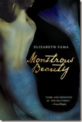 Monstrous Beauty by Elizabeth Fama book cover