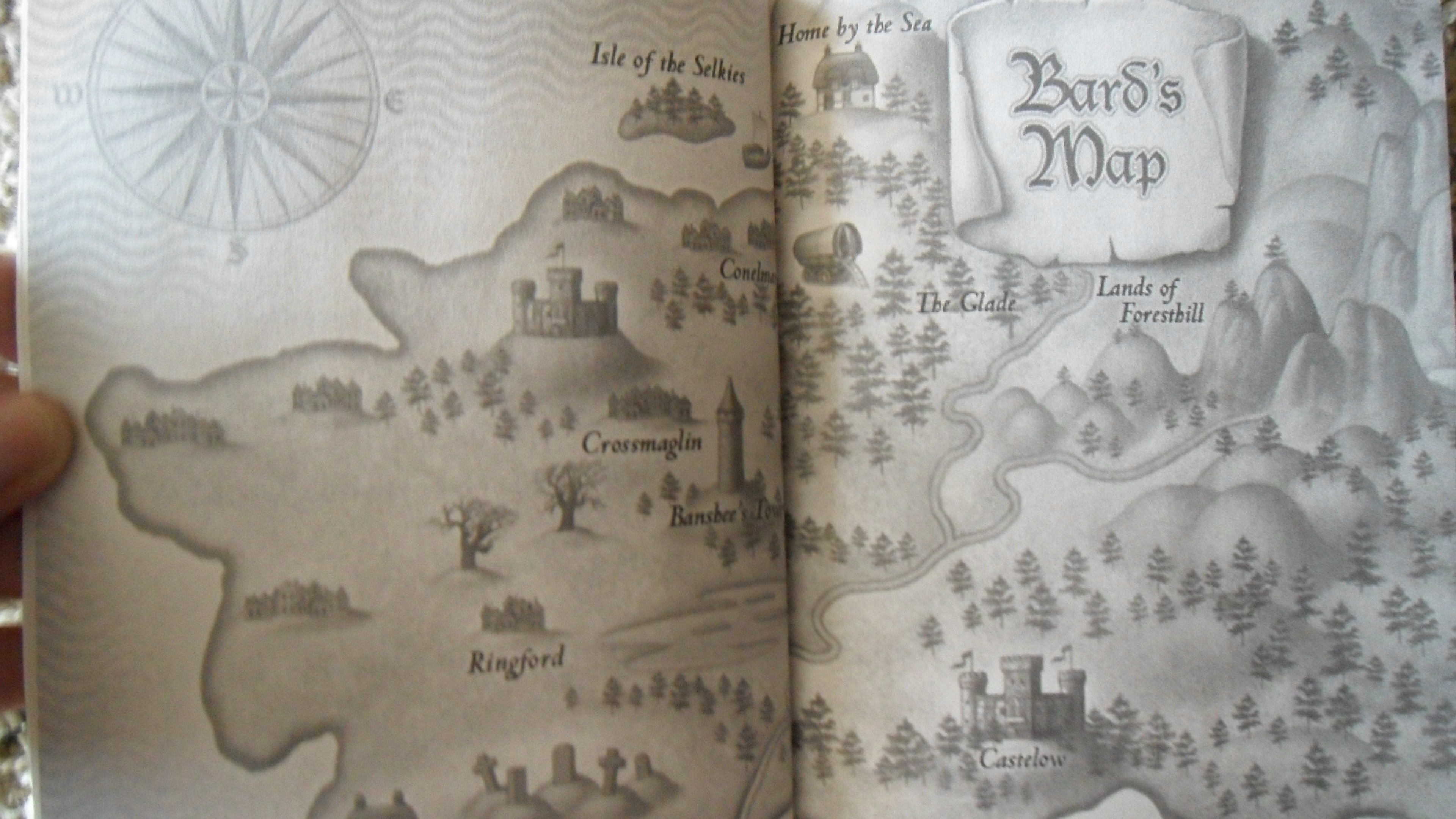 Bard's Map from The Seven Tales of Trinket by Shelley Moore Thomas
