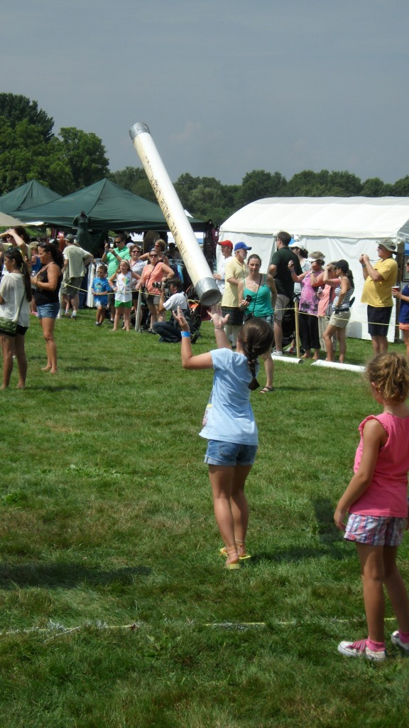 Children's Caber Tossing