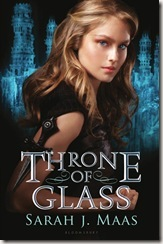 Throne of Glass by Sarah J. Maas book cover